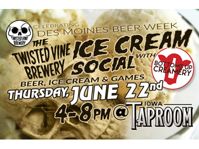 Twisted Vine's Ice Cream Social feat. Bottoms Up Creamery