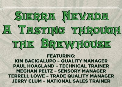 Sierra Nevada Presents…A tasting through the Brewhouse