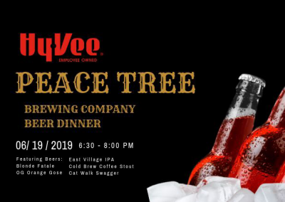 Peace Tree Beer Dinner at Hy-Vee
